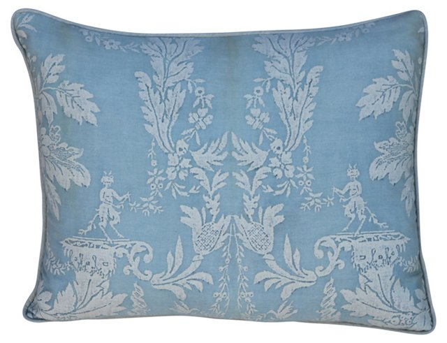 Soft Blue & White Fortuny Pillow