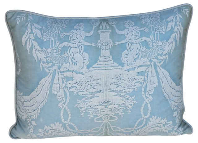 Blue    & White   Fortuny Pillow