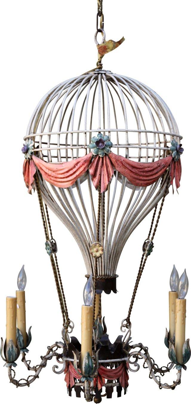 Italian Painted Balloon Chandelier