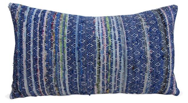 Woven Diamond & Striped Pillow