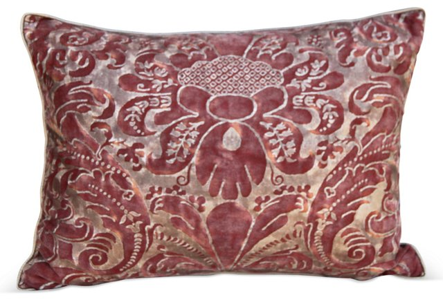 Red & Gold Fortuny Pillow