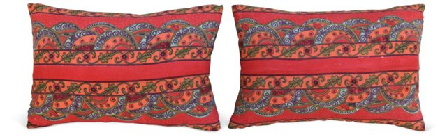 Cotton & Linen  Pillows, Pair