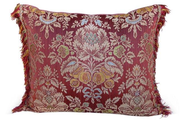 Pink   Silk Damask Pillow