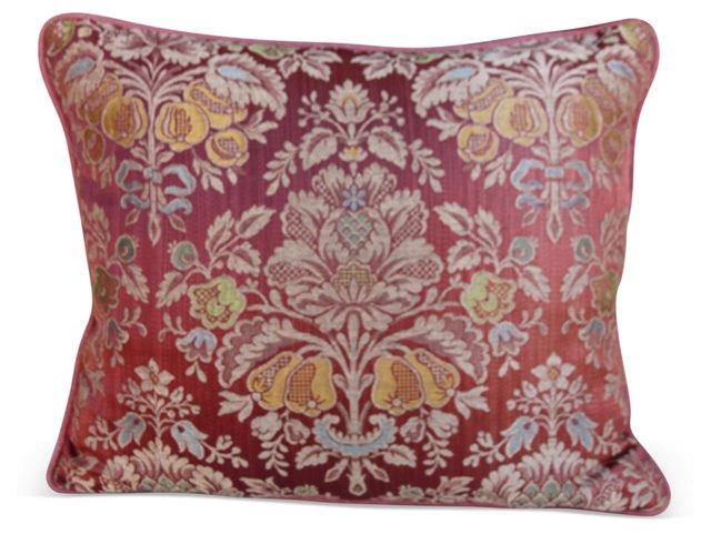 Pink  Damask  Silk Pillow