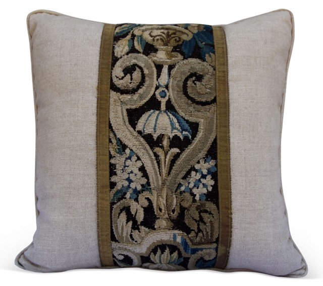 Pillow w/   Antique French Tapestry