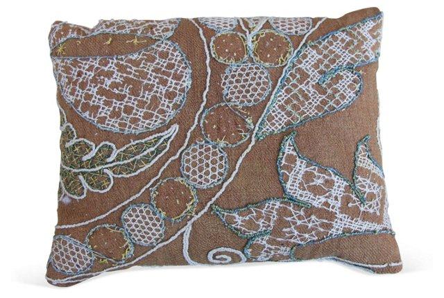Embroidered Linen Sachet