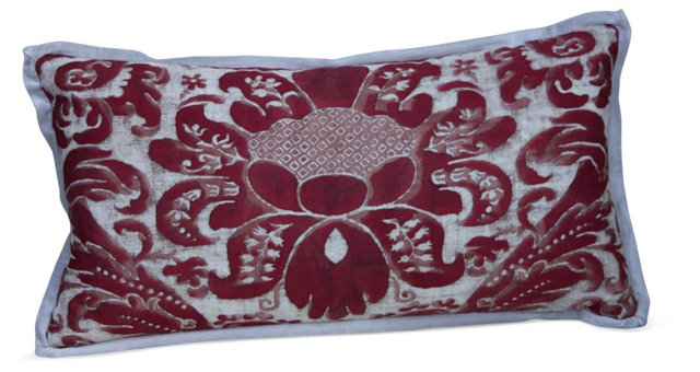 Red & Gray Fortuny Pillow