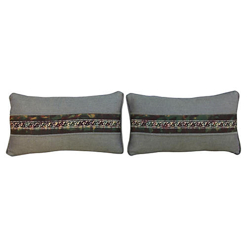 Fortuny Textile Pillows, Pair