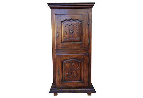 French Walnut Armoire w/  Heart