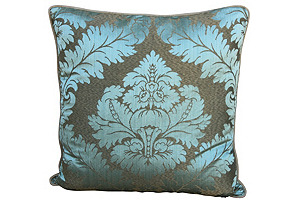 Custom Silk Damask Pillow