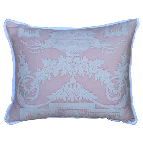 Pink & White Fortuny Pillow