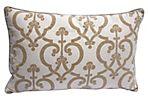 Cut Velvet Linen    Pillow