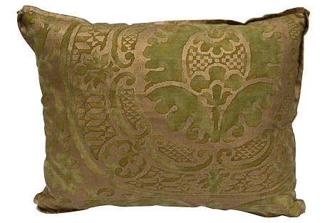 Green &  Gold    Fortuny Pillow