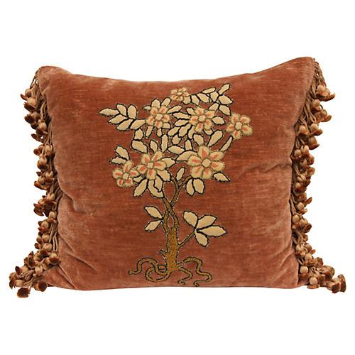 Petit Point Appliquèd Velvet Pillow