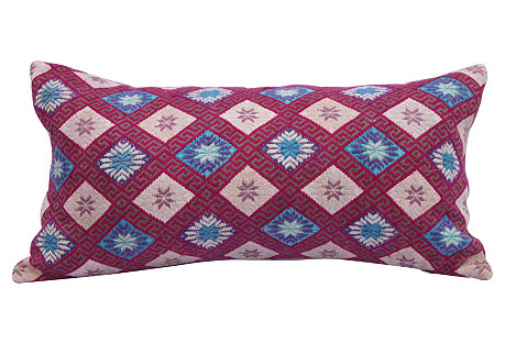 Woven Silk Tribal Pillow