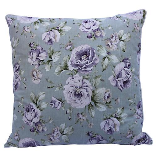 Printed Floral Linen Pillow