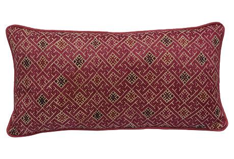 Woven  Hmong Tribal Pillow