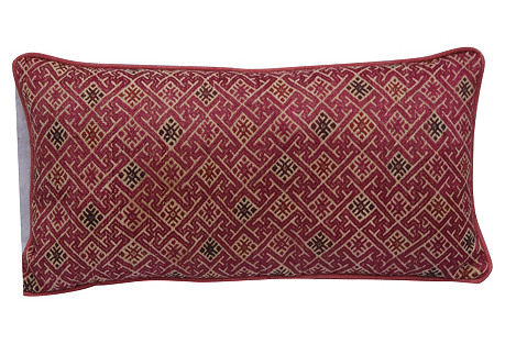 Rust   Woven   Hmong Pillow