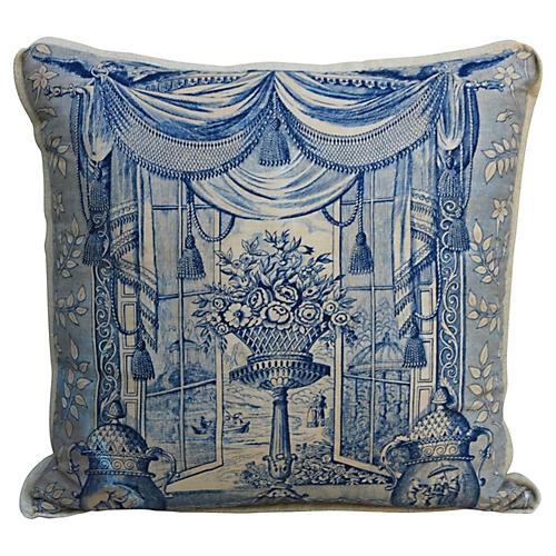 18th-C. Style Chinoiserie Pillow