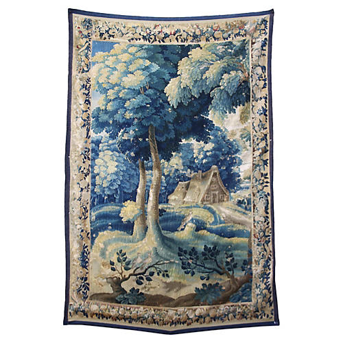 18th-C. Flemish Tapestry w/ Border