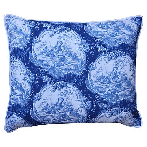 Blue & White French Toile Pillow