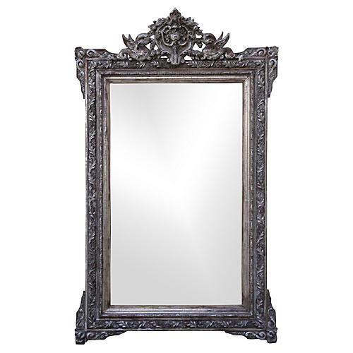 Italian Silvered Mirror w/ Griffins
