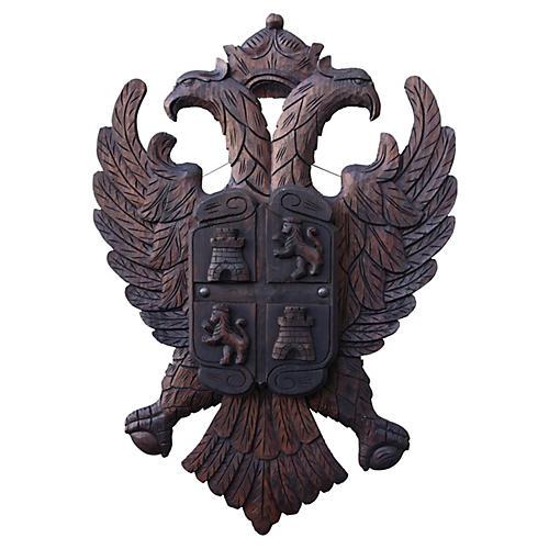 Walnut Double-Headed Eagle Crest