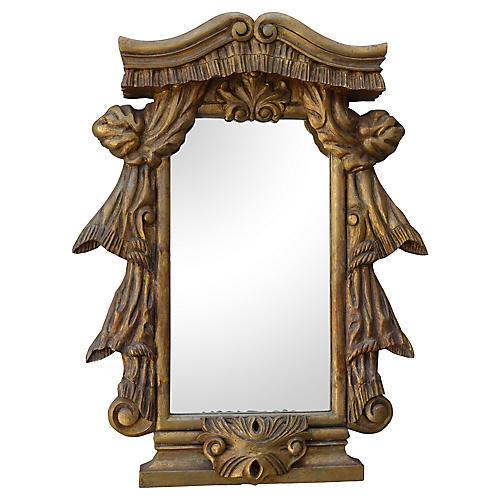 Italian Carved Giltwood Mirror, C. 1900