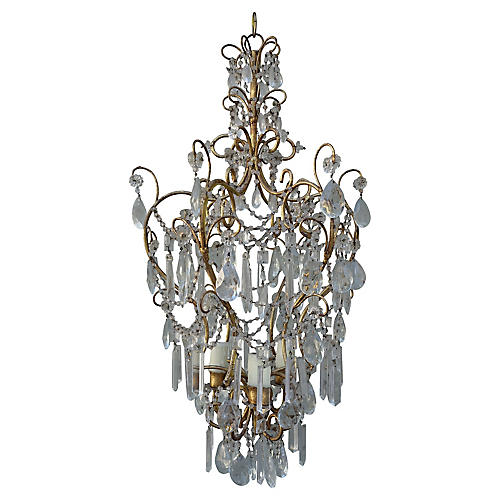 Italian Crystal 4-Light Chandelier