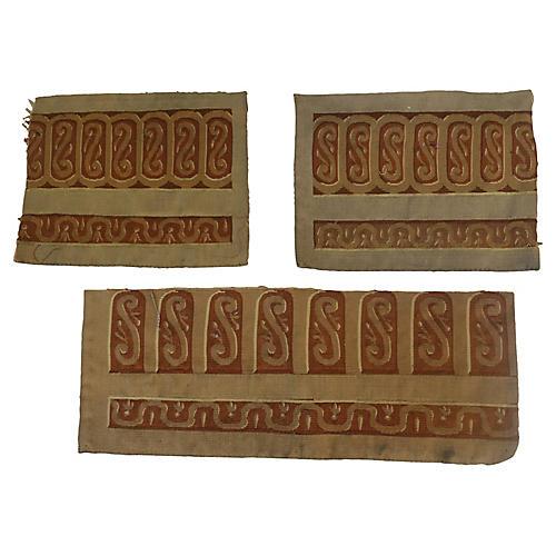 Handmade Aubusson Textile Fragments, S3
