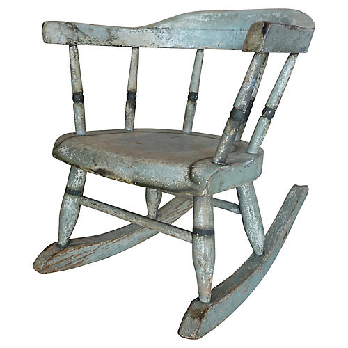Vintage Painted Rocking Chair