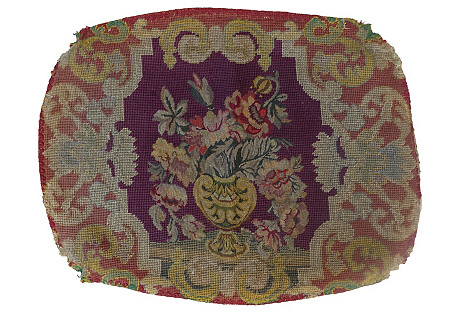 Antique French Needlework Textile