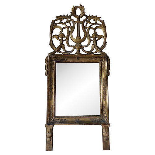 19th C. Italian Gilt Wood Mirror