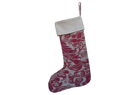 Fortuny Christmas Stocking
