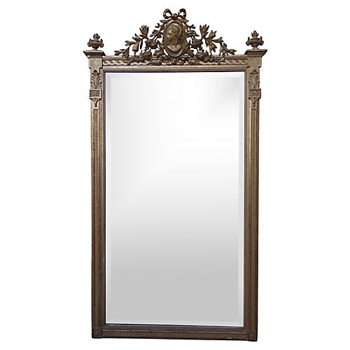 Neoclassical-Style Giltwood Mirror