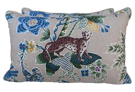 Cowtan & Tout Jungle Pillows, Pair
