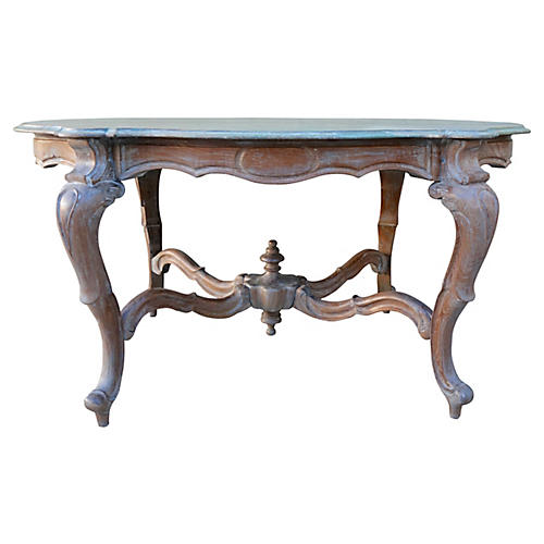 French Table w/ Serpentine Top