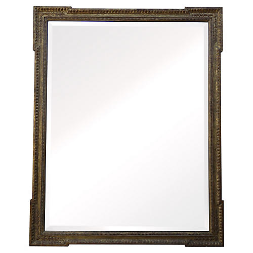 Italian Gilt Wood Mirror w/ Bevel