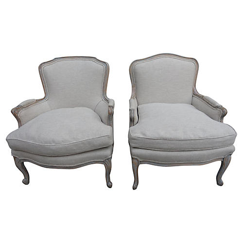 Pair of French Bergeres, C.1920