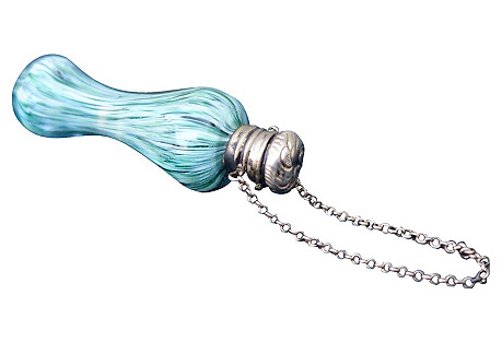 Victorian Silver & Glass Perfume Bottle