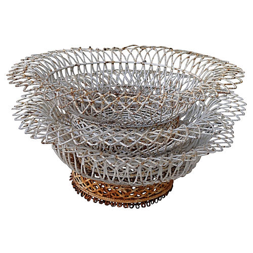 Painted Wire Baskets, S3
