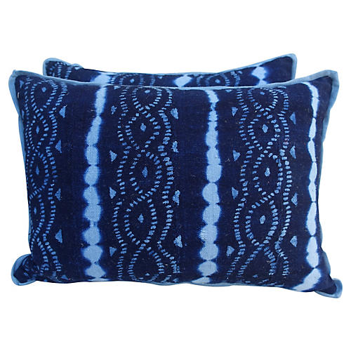 Pair of Woven Batik Pillows