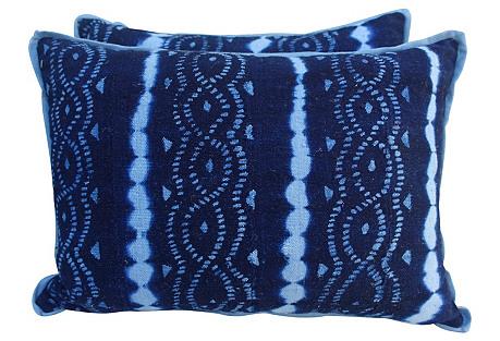 Pair of Woven Batik Pillows