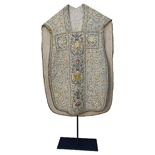 18th-C. Italian Metallic & Silk Vestment