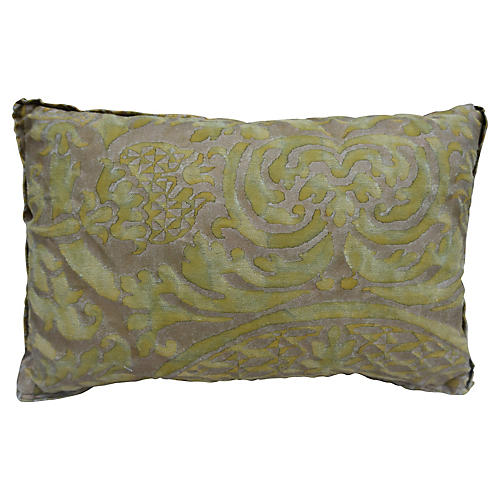 Green & Gold Fortuny Accent Pillow