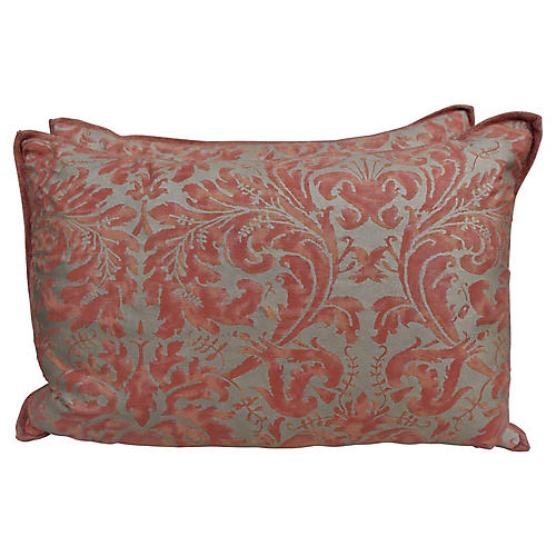 Bittersweet & Silver Fortuny Pillows S/2
