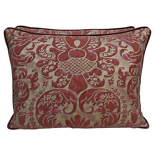 Caravaggio Fortuny Textile Pillows, Pair