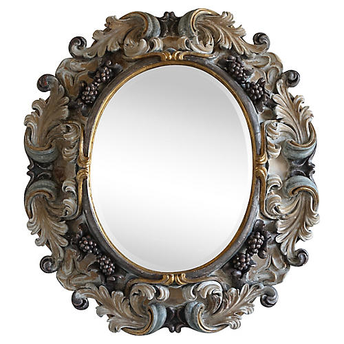 Italian Rococo Style Painted Mirror
