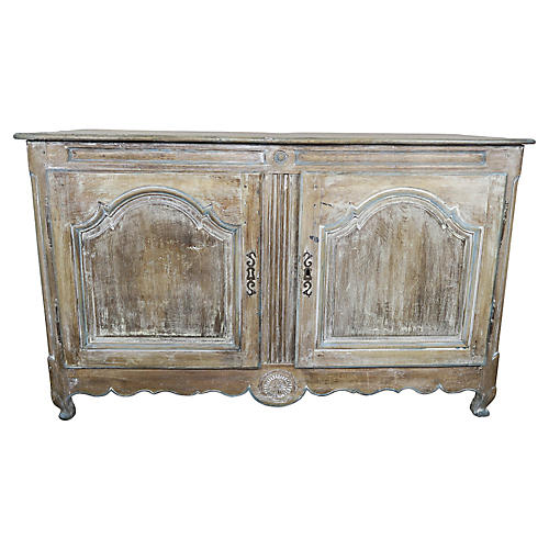 19th C. French Walnut Painted Buffet