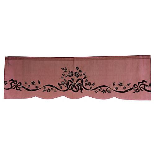 Silk Moire Valence w/ Bows & Ribbon